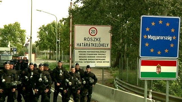 На границе Венгрии с Сербией