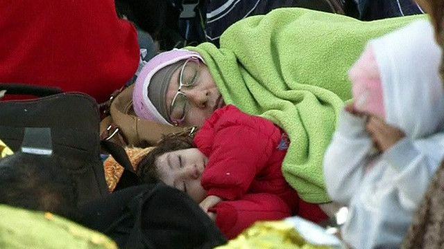 Мигранты на венгерской границе