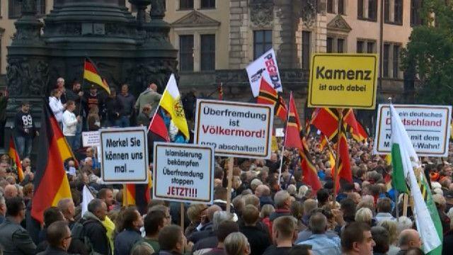 """Митинг """"Пегиды"""" в Дрездене"""