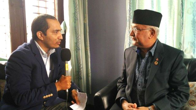 kp sharma oli with mahesh acharya