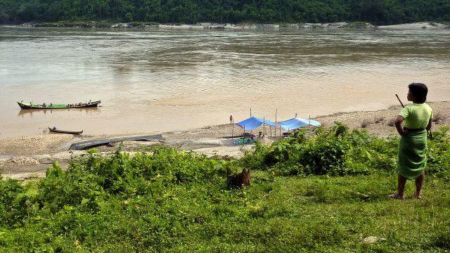 Irrawaddy river in Kachin state