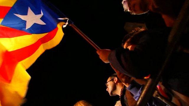 Митинг сторонников независимости в Барселоне