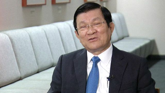 Chủ tịch nhà nước Việt Nam, ông Trương Tấn Sang