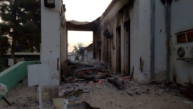Hospital de MSF en Kunduz, Afganistán, tras el ataque.