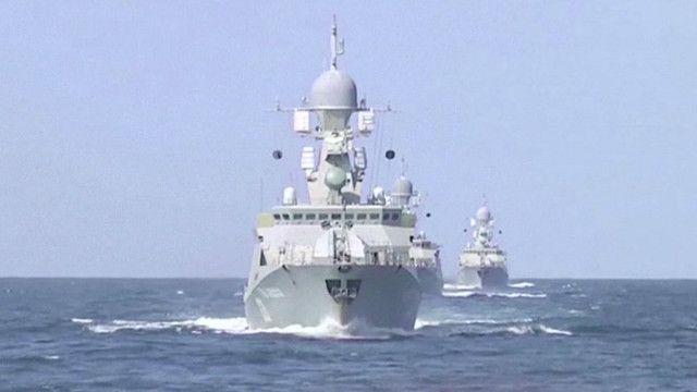 Российский удар по целям в Сирии с Каспийского моря