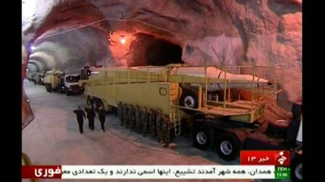 Иран показал секретную подземную ракетную базу