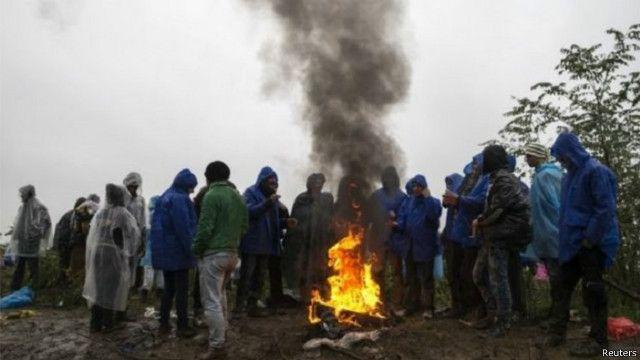 سردی اور بارش سے متاثرہ تارکین وطن