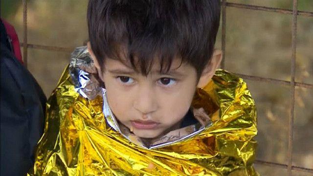 Мальчик на острове Лесбос