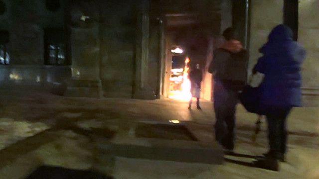 Поджог двери ФСБ на Лубянке