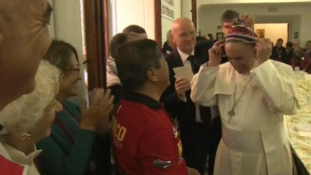 папа в шапочці