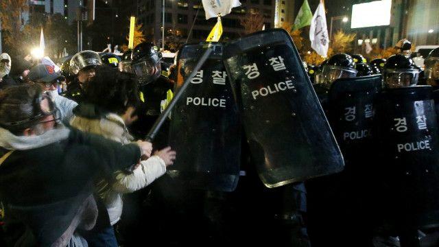 south korea protest