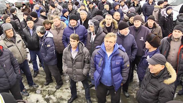 Протест дальнобойщиков в Екатеринбурге