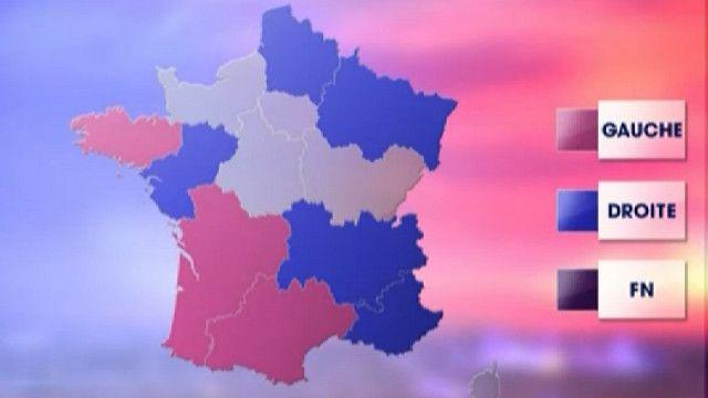 Результаты выборов на карте