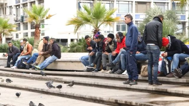Мигранты в Афинах