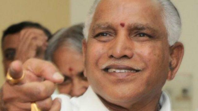 येदियुरप्पा, कर्नाटक, भाजपा अध्यक्ष, पटाखे फूटे
