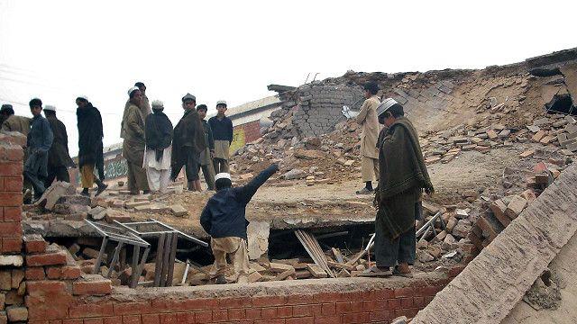 خیبر پختونخوا میں ایک تباہ شدہ سکول