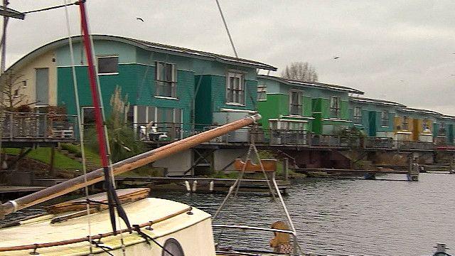 Плавучие дома в Голландии