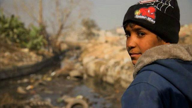 ребенок на окраинах Дамаска