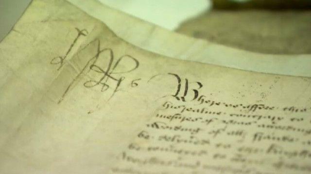 Архивные документы на пергаменте