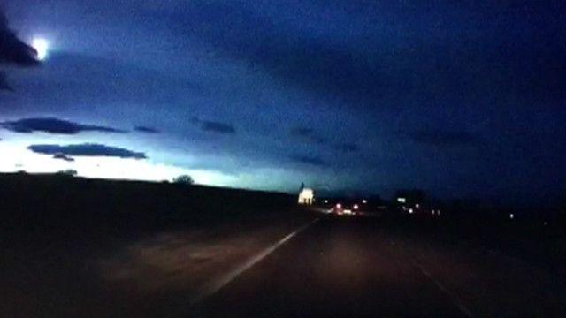 Падение метеорита в Шотландии