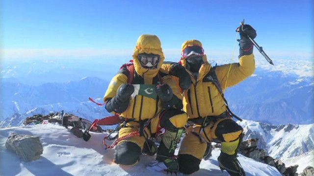 کوہ پیما نانگا پربت کی چوٹی پر