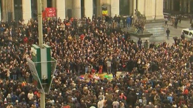 Минута молчания в Брюсселе