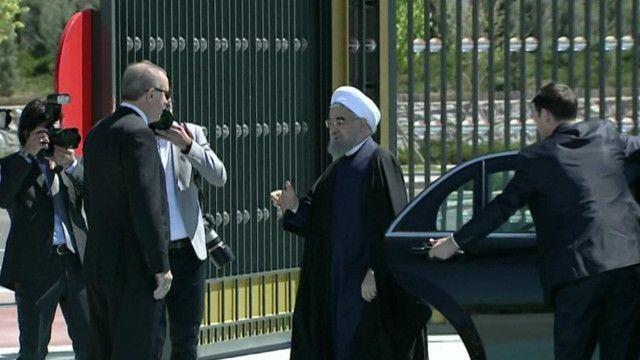 روحاني يلتقي أردوغان
