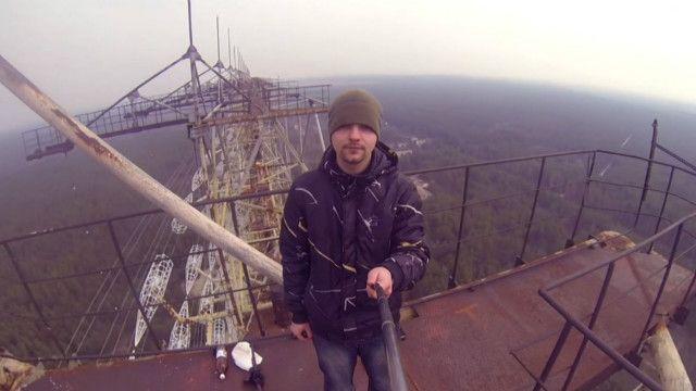 Артур Калмыков в чернобыльской зоне