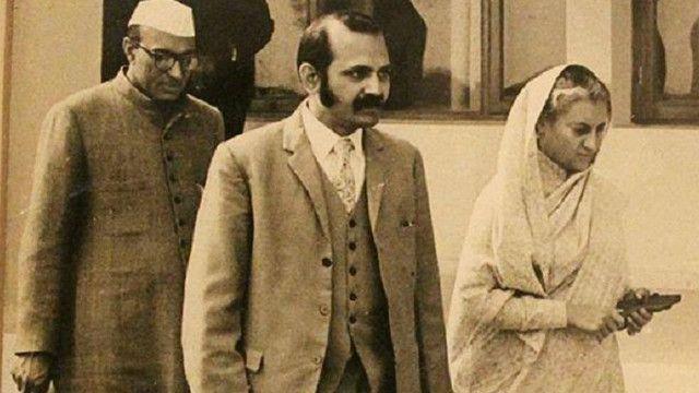 एस के मिश्रा और इंदिरा गांधी