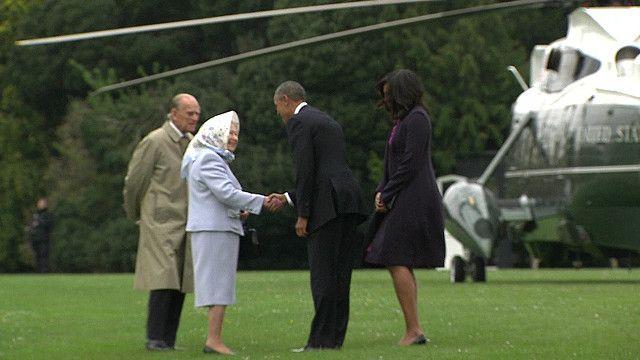 Обама встречается с Елизаветой II