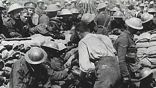 Британские раненые (архивные кадры)