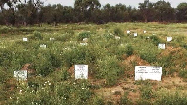 Кладбище, на котором похоронены беженцы