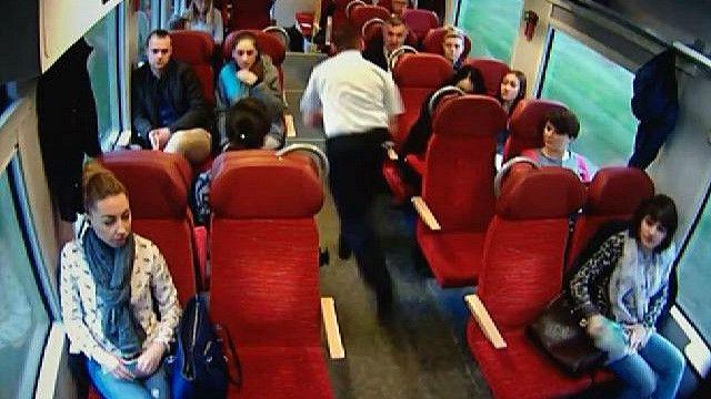 Машинист и пассажиры поезда