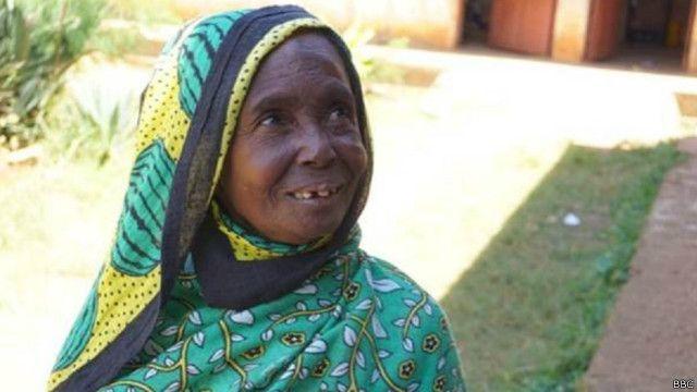 जन्जिबारकी एक वृद्ध महिला