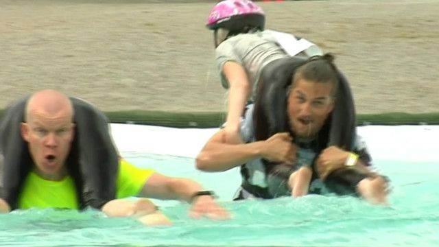 Wife Carrying World Championships in Finland