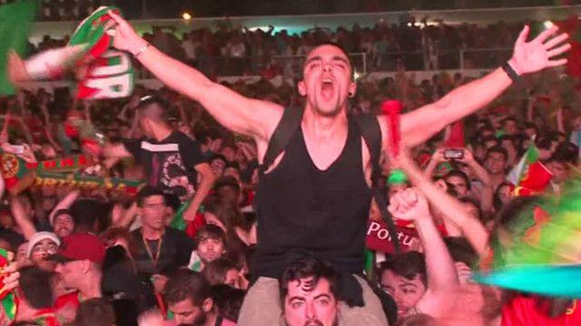 Португальці святкують перемогу на Євро-2016