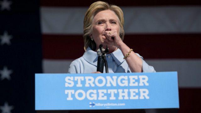 Клінтон закашлялась під час виступу