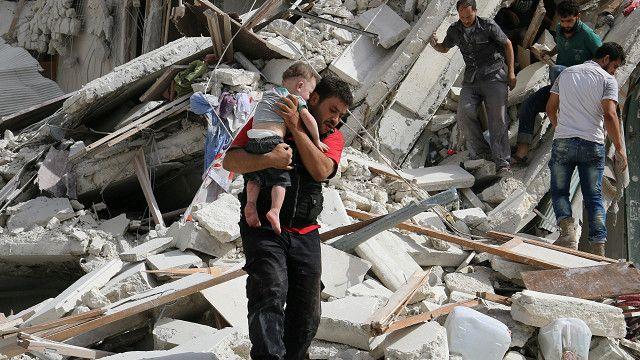 Serangan udara ke Aleppo