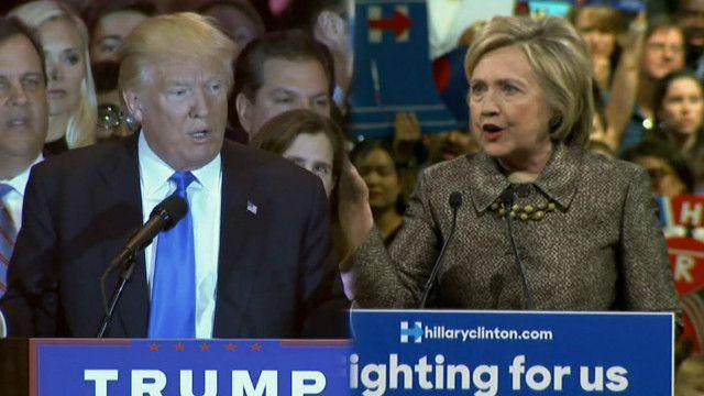 Donald Trump dan Hillary Clinton