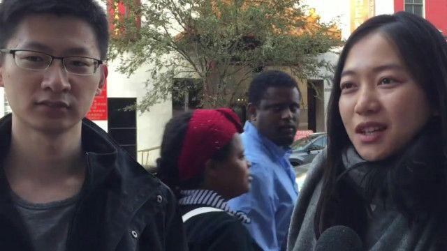 美国大选前对话在美中国留学生