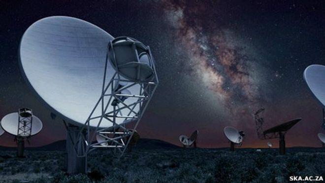 Resultado de imagen de radiotelescopio potente Square Kilometre Array (SKA).