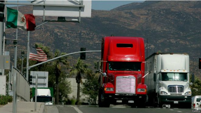 Resultado de imagen para transporte de carga en la frontera ee uu