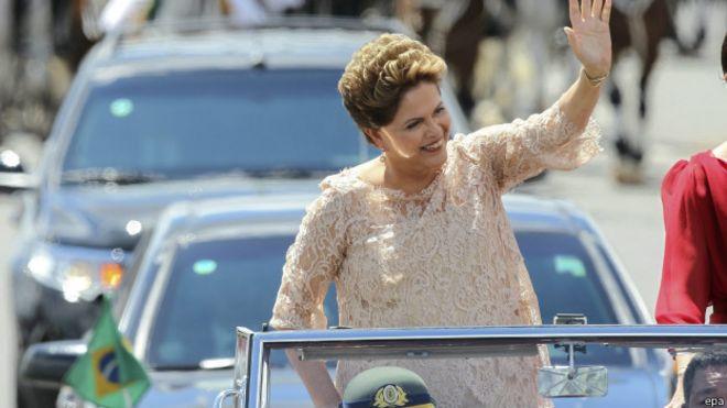 Presidenta brasileña, Dilma Rousseff.