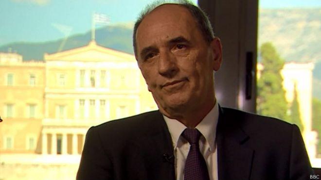 Giorgos Stathakis, miinistro de economía de Grecia