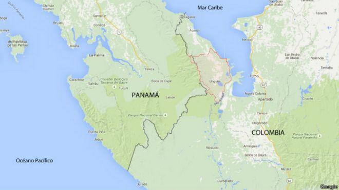 mapa colombia panama