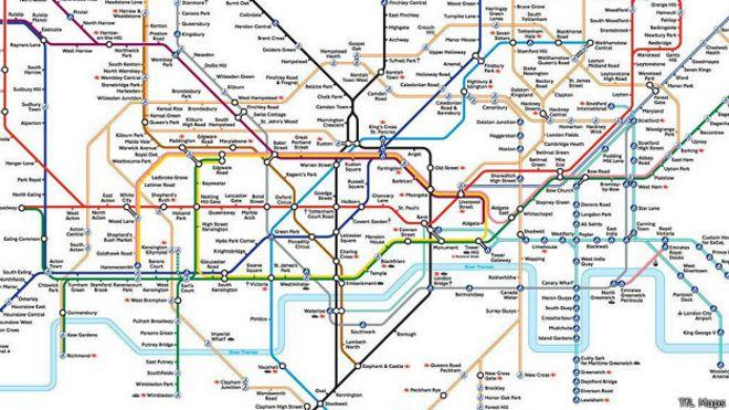 Схема автобус лондона