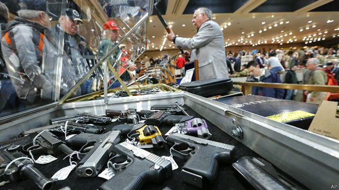 Feria de armas en Nueva York, EE.UU.