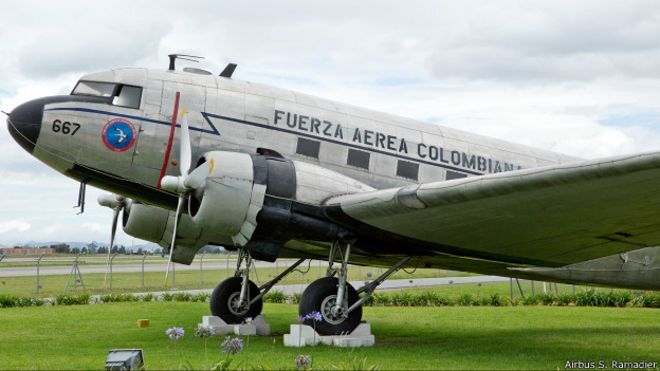 Avión de la Fuerza Aérea de Colombia A350 XWB