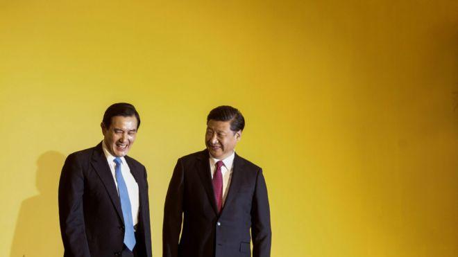 马英九与习近平在新加坡会面