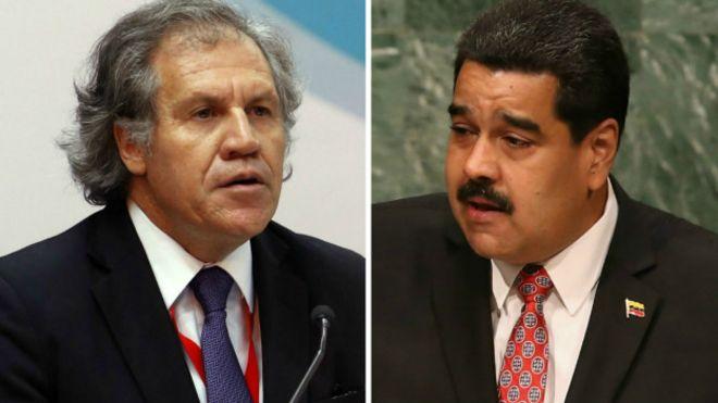 Resultado de imagen para Secretario general de la OEA y Nicolás Maduro